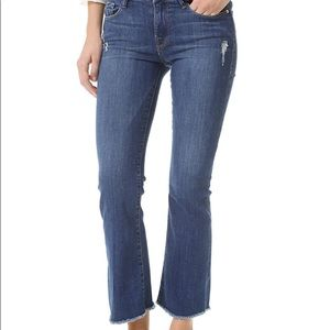 Frame Denim Le Cropped Mini Boot Jeans 27 EUC